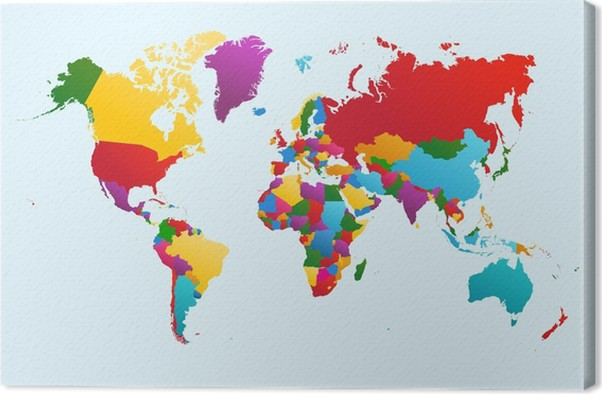 World map colorful countries illustration eps10 vector file canvas world map colorful countries illustration eps10 vector file canvas print gumiabroncs Gallery