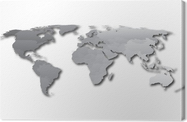 World map countries gray gradient canvas print pixers we live world map countries gray gradient canvas print gumiabroncs Image collections