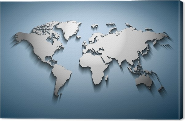 World map embossed canvas print pixers we live to change world map embossed canvas print signs and symbols gumiabroncs Gallery