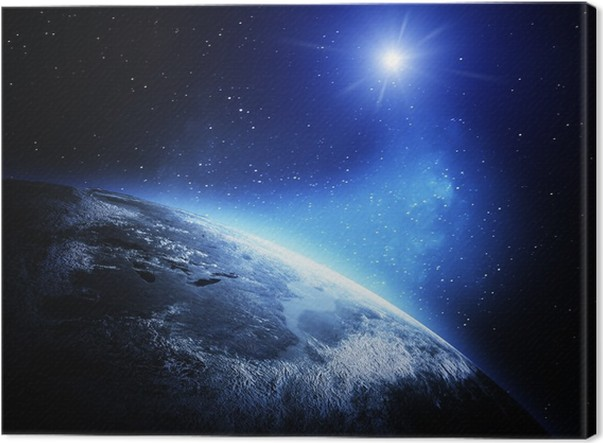 World map from space canvas print pixers we live to change world map from space canvas print outer space gumiabroncs Gallery