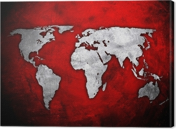 World map on red concrete wall wall mural pixers we live to change world map on red concrete wall canvas print gumiabroncs Image collections