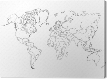 World map outline illustration sticker pixers we live to change world map outline illustration canvas print publicscrutiny Images