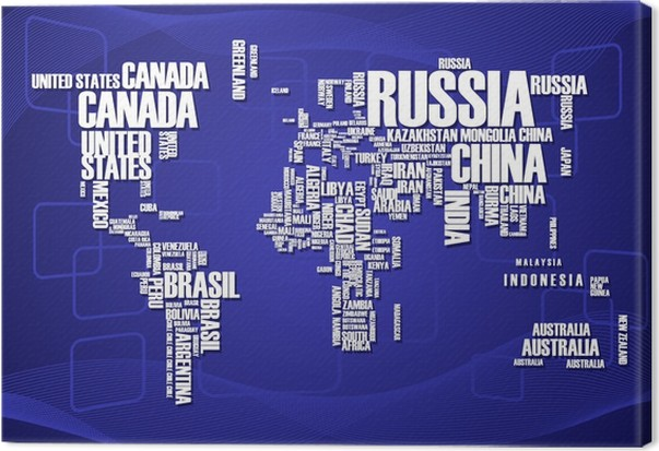 World mapthe contours of the country consists of the words canvas world mapthe contours of the country consists of the words canvas print business gumiabroncs Gallery