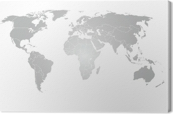 World map vector grey gradient poster pixers we live to change world map vector grey gradient canvas print gumiabroncs Gallery