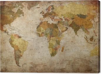 Retro world maps canvas prints pixers world map canvas print gumiabroncs Choice Image
