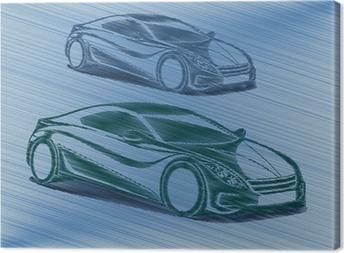 Yarışan otomobiller Canvas Print