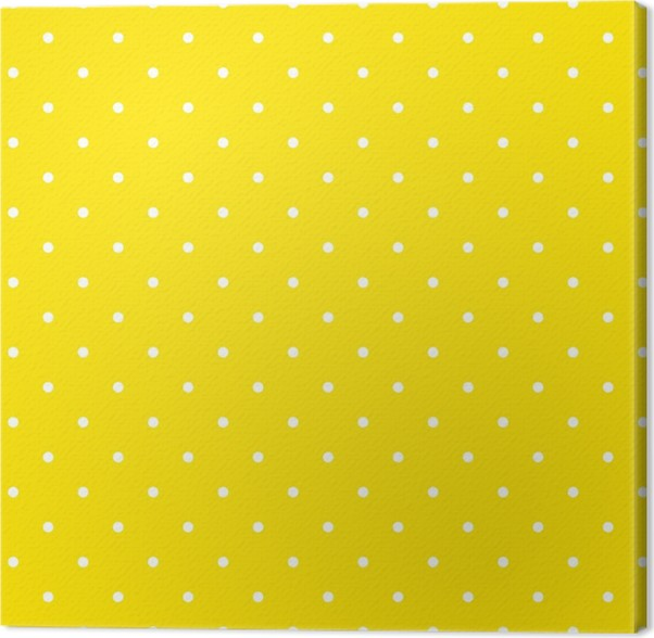 yellow polka dot background pattern canvas print