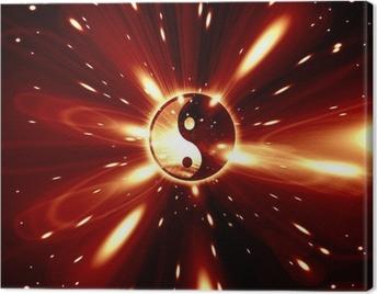 Yin Yang sign Canvas Print