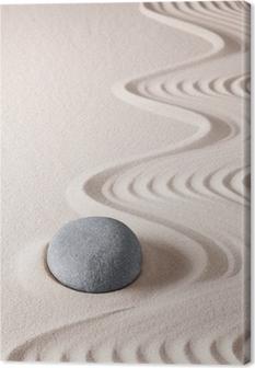 zen meditation stone Canvas Print