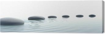 Zen path of stones in widescreen Canvas Print
