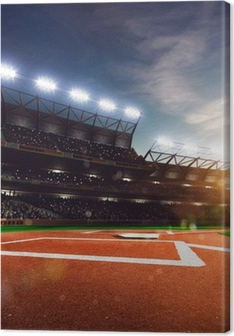 Canvas Professioneel honkbal Grand Arena in zonlicht