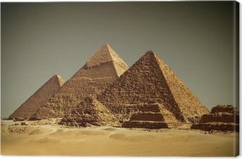 Canvas Pyramides - Gizeh / Egypte
