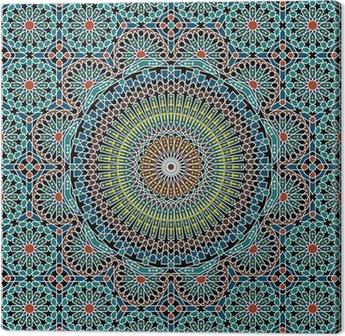 Canvas Razilië Moorse Naadloze Patroon