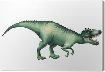 Canvas Realistische aquarel dinosaurus