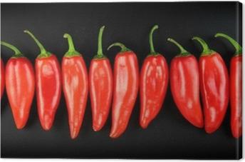Canvas Red hot chili peper