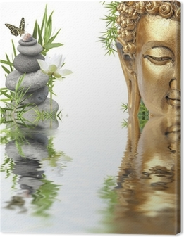 Canvas Reflecties van Boeddha