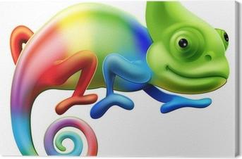 Canvas Regenboog kameleon