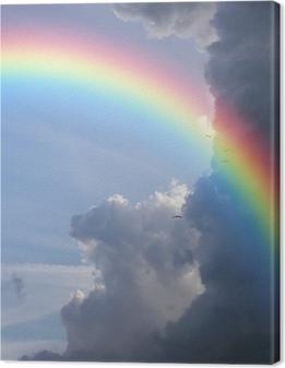 Canvas Regenboogwolken