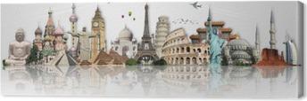 Canvas Reis de wereld monumenten begrip