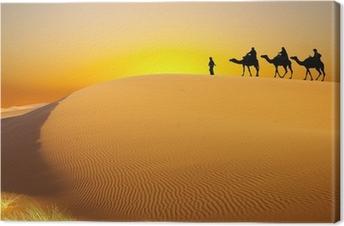 Canvas Reizen met kameel