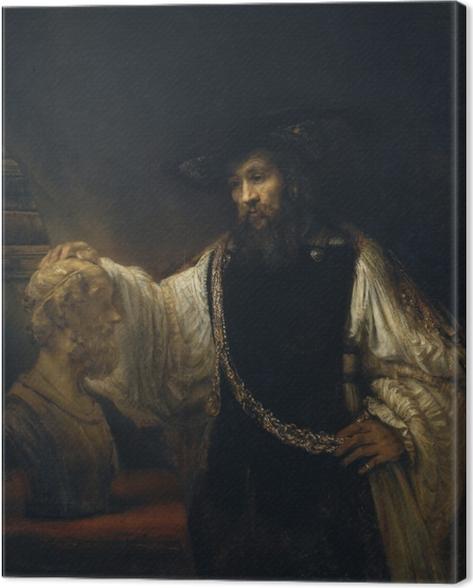Canvas Rembrandt van Rijn - Aristoteles bij de buste van Homerus - Reproducties