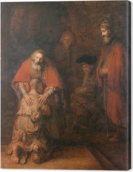canvas rembrandt van rijn - de terugkeer van de verloren zoon