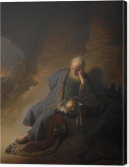 Canvas Rembrandt van Rijn - Jeremia treurend over de verwoesting van Jeruzalem