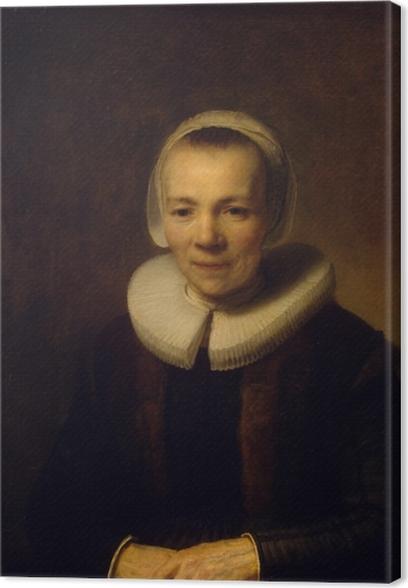 Canvas Rembrandt van Rijn - Portret van Baertje Martens - Reproducties