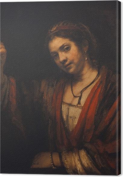 Canvas Rembrandt van Rijn - Portret van Hendrickje Stoffels - Reproducties