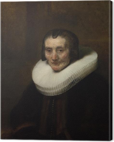 Canvas Rembrandt van Rijn - Portret van Margaretha de Geer - Reproducties