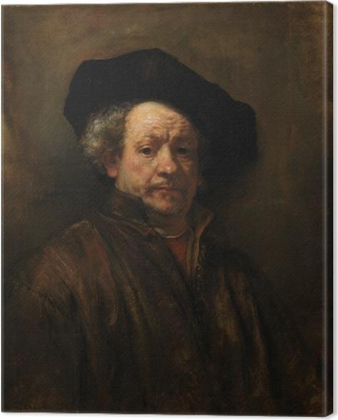 Canvas Rembrandt van Rijn - Zelfportret - Reproducties