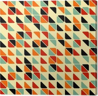 Canvas Retro abstracte naadloze patroon met driehoeken