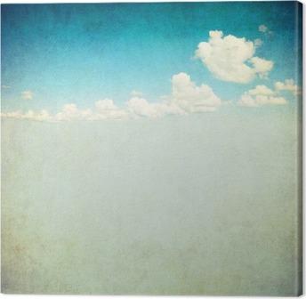 Canvas Retro beeld van bewolkte hemel