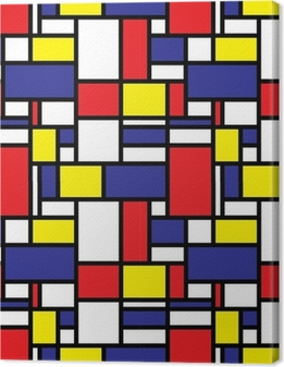 Canvas Retro naadloze rasterpatroon