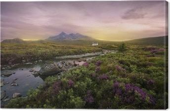 Canvas Rivier Sligachan, Schotland