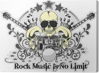 Canvas Rock n roll symbool 4