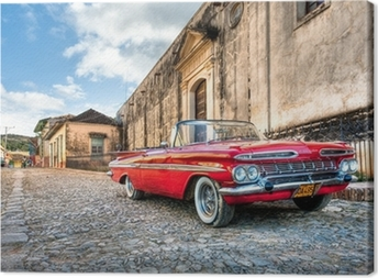 Canvas Rode Chevrolet