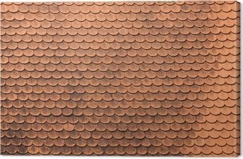 Canvas tegels op oud kasteel dak het platform achtergrond. u2022 pixers
