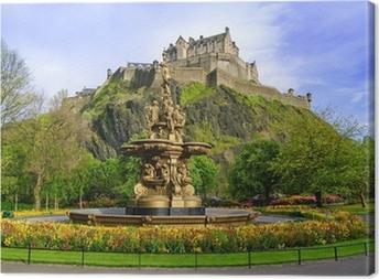 Canvas Ross fontein mijlpaal in Edinburgh, Schotland