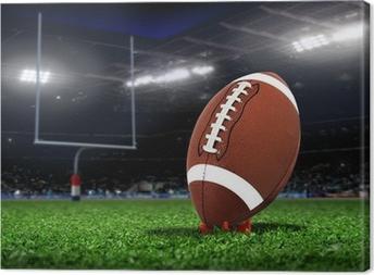 Canvas Rugby Bal Op Gras in een stadion