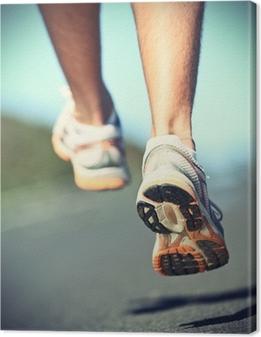Canvas Runnning schoenen op runner