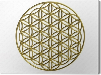 Canvas Sacrale Symbol Flower of Life in 3D