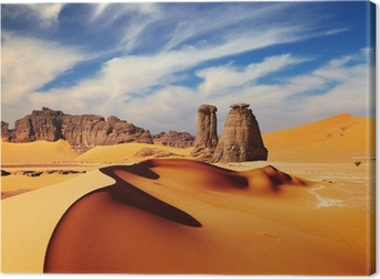 Canvas Sahara woestijn, Algeria
