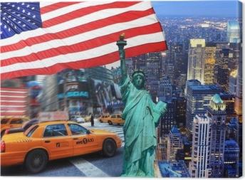 Canvas Samenstelling New York.