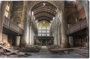 Canvas Sanctuary. Verlaten Stad Methodist Church in Gary, Indiana. HDR