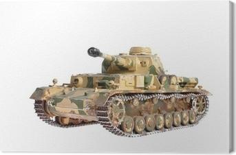 Canvas Schaalmodel van een Duitse tank uit de Tweede Wereldoorlog