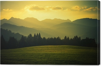 Canvas Schilderachtige berglandschap