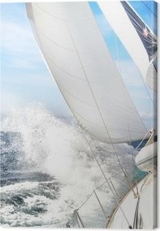 Canvas Segelboot im Sturm