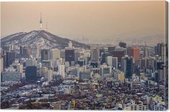Canvas Seoel, Zuid-Korea Skyline