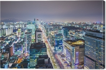 Canvas Seoel, Zuid-Korea Skyline